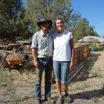 Aliza with the owner of Juniper Jungle.Farm.
