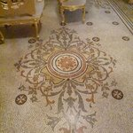 Beautiful mosaics on the floor of Marquis Scicluna's study