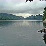 Lake Danao and a cottage.