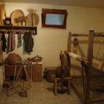 Stanza della tessitura del museo annesso al mulino