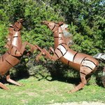 """Some of the """"yard art"""" around the cottages"""
