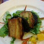 Pork belly with black pudding