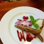 Raspberry cheesecake I think