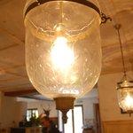 Interesting chandelier in the restaurant