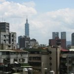 Looking from room to Taipei 101
