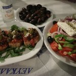 cretan dacos and greek salad
