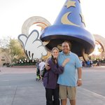 """in front of the """"Hat"""" in Hollywood Studios"""