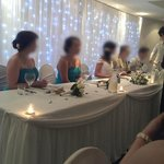 Wedding Reception - Beautiful head table