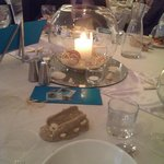 Wedding Reception - Beautiful Centerpieces (tea lights not lit)
