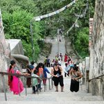 365 steps up for pilgrims