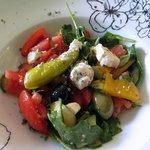 kleiner mediterraner Salat