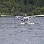 The Seaplane coming in to land.