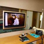 flat screen tv inside mirror
