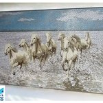 Camargue Horses - mosaic work by Southbank Mosaics CIC