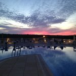 View across the pool, beautiful sky