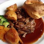 roast lamb ( plenty more veg not shown!)