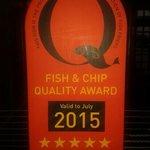Fox Hall Inn Quality Award