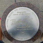Standing on the marker for center of the USA!