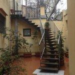Escalera de acceso al comedor