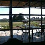 Vista desde el interior del restaurant