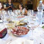 Wine tasting set up
