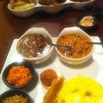 Sri Lankan curry set.