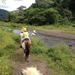 River crossing on horseback