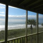 Oceanfront View to beach from screened porch - second floor
