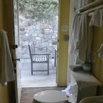 Cottage #32: Go thru the restroom to the back patio