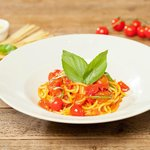 Spaghetto with cherry tomatoes