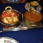 chicken Tikka garlic and a madras sauce