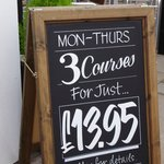 3 Fresh Made Courses for £13.95........ Bargain!!!