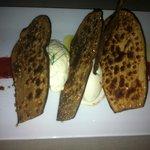 dessert aubergine glace fenouil  coulis de poivron