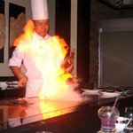 レストラン「天」でステーキコース料理。牛のサーロイン、フィレも美味しいですが、沖縄豚も是非!