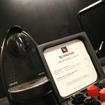 in room Nespresso, but do bring your capsules