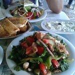 greek salad tzaziki and diodos salad
