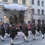 Parade in steet close by hotel