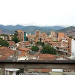 View of Medellín from the balcony next to my room.