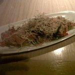 Fideos de arroz al wok (Sriracha)