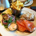 Salmon and Crabmeat sandwich
