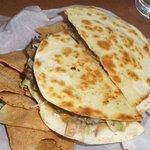 Baja Quesidilla Burger at Denny's all this food for $4.00