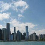 Centre-ville de Chicago à partir d'un water-taxi