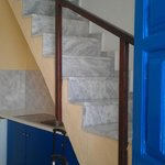 Stairs to 2nd floor of room in hotel
