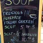Enjoy our delicious homemade soup!