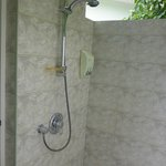 open air shower place