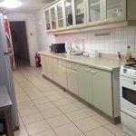 Huge kitchen.