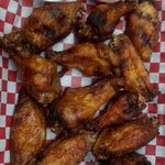 Our smoked then deep fried pig wings, these are not breaded