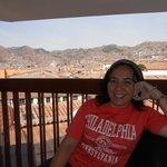 Vista de Cuzco a partir da sacada do 3o. andar