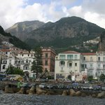 The town of Amalfi from the water