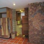 Penthouse bathroom and toilet door open
